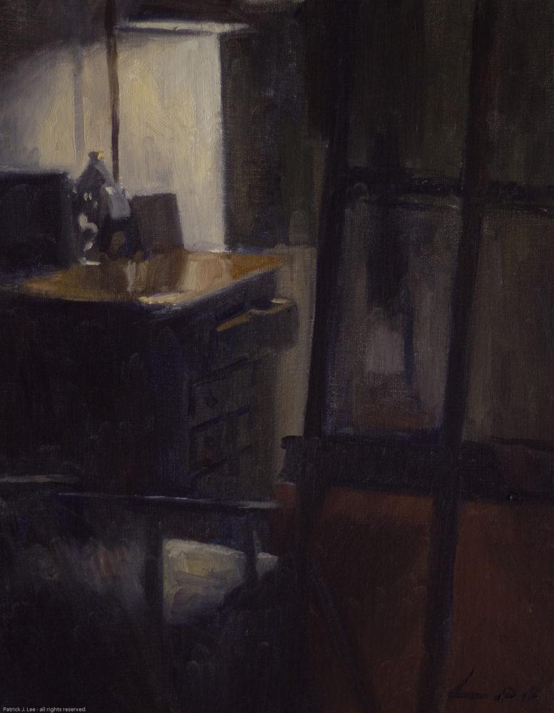 PatrickLee Studio Interior Evening 14x11 oil1