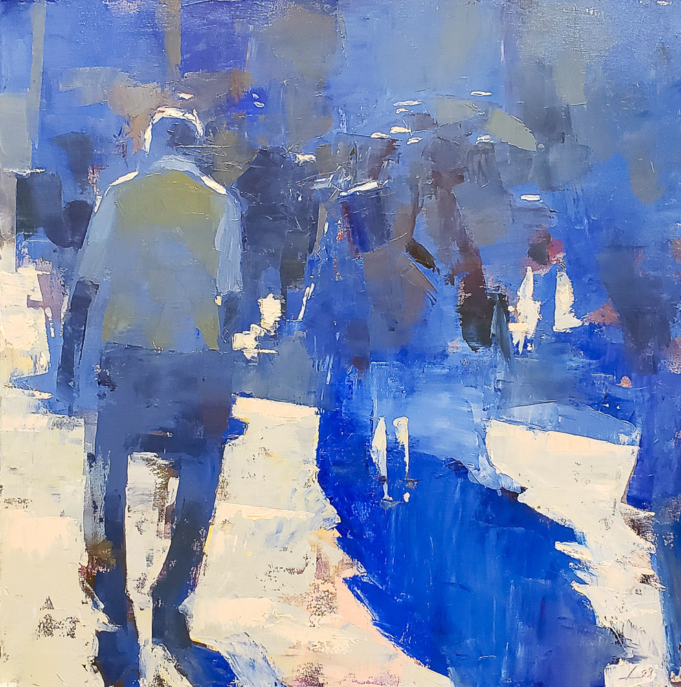 Blue Day 24x24 oil available Sarah Jessica FineArt Provincetown Mass