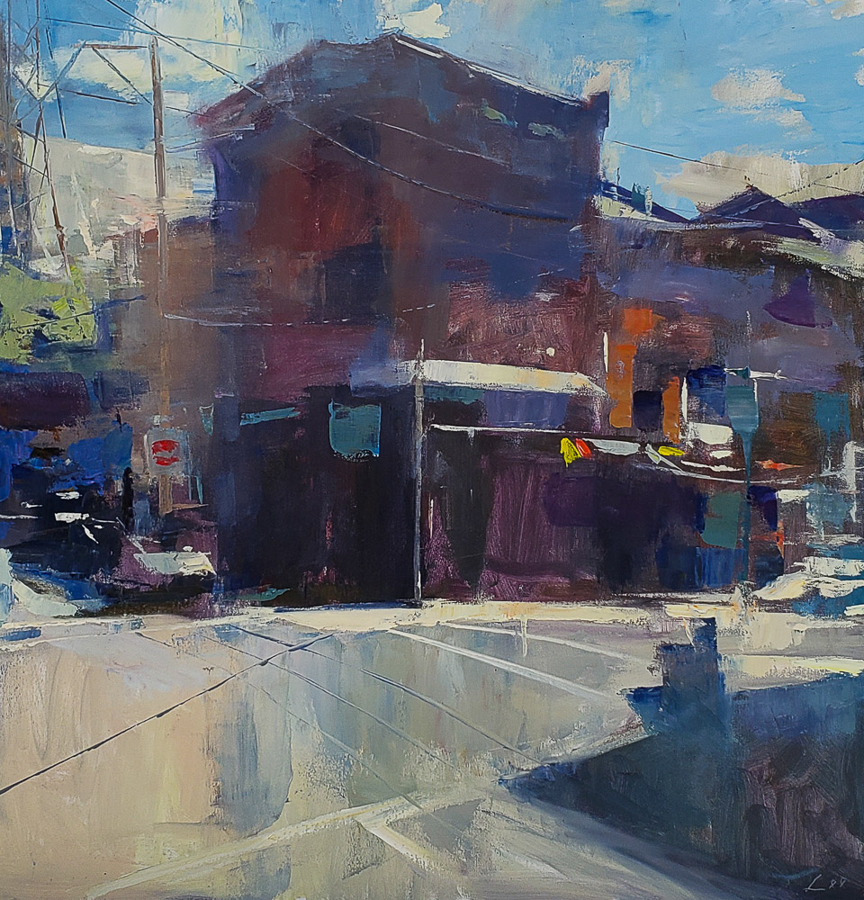 Manayunk Remnant 36x36 oil pleinair privatecollection